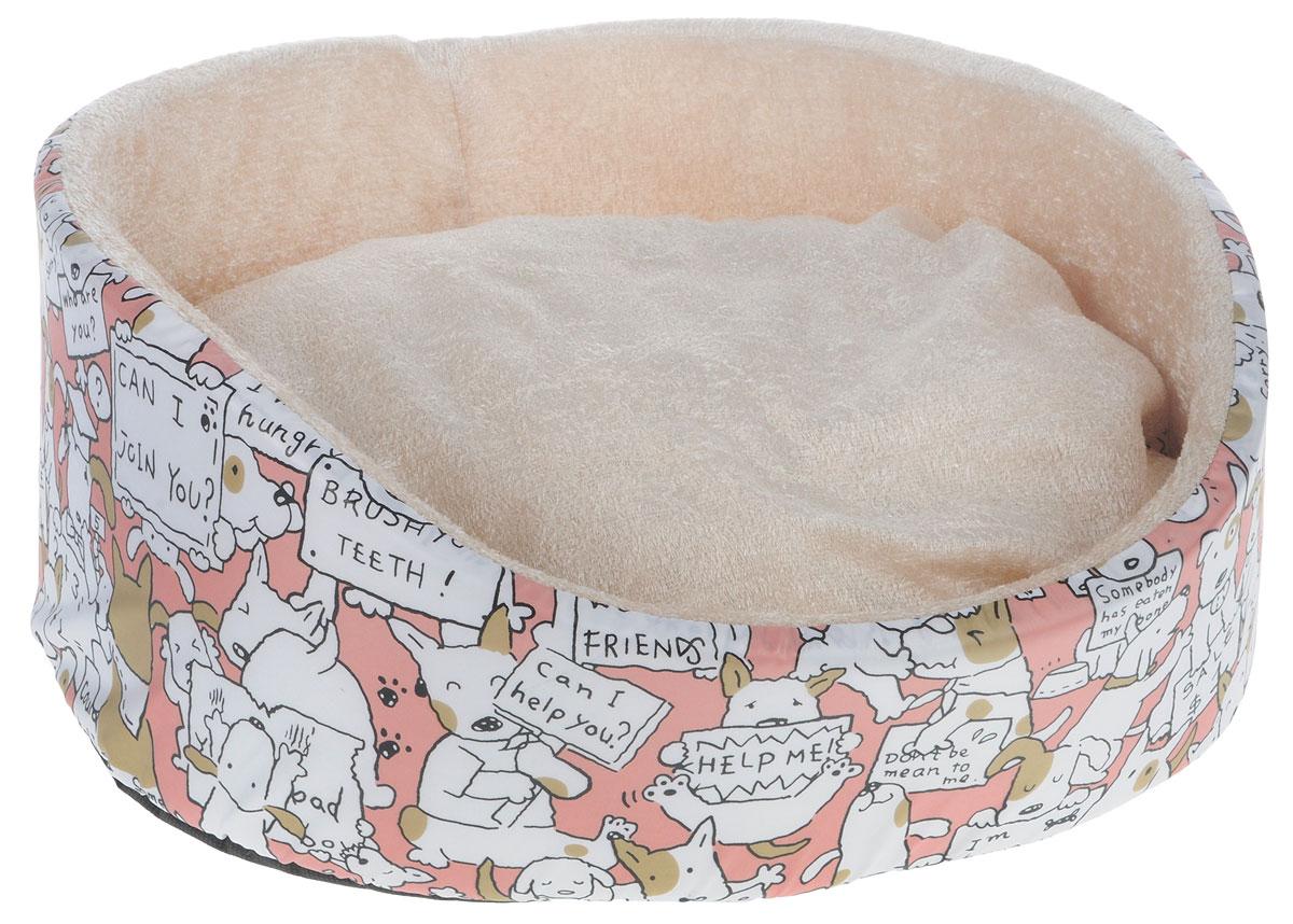 Лежак для кошек и собак GLG Нежность, цвет: бежевый, белый, розовый, 54 х 46 х 17 смL002/C_бежевый, белый, розовыйМягкий лежак GLG Нежность обязательно понравится вашему питомцу. Лежак оснащен мягкой съемной подушкой. Высокие бортики обеспечат вашему любимцу уют.Мягкий лежак станет излюбленным местом вашего питомца, подарит ему спокойный и комфортный сон, а также убережет вашу мебель от шерсти. Размеры: 54 х 46 х 17 см.