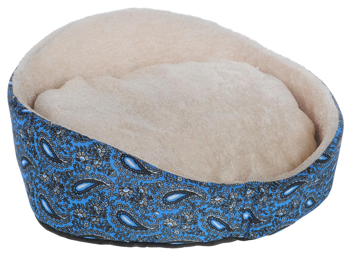 Лежак для животных GLG Фигурный, цвет: синий, молочный, 48 х 39 х 21 смL010_синий, молочныйМягкий лежак GLG Фигурный обязательно понравится вашему питомцу. Лежак оснащен мягкой съемной подушкой. Высокие бортики обеспечат вашему любимцу уют.Мягкий лежак станет излюбленным местом вашего питомца, подарит ему спокойный и комфортный сон, а также убережет вашу мебель от шерсти. Размеры: 48 х 39 х 21 см.