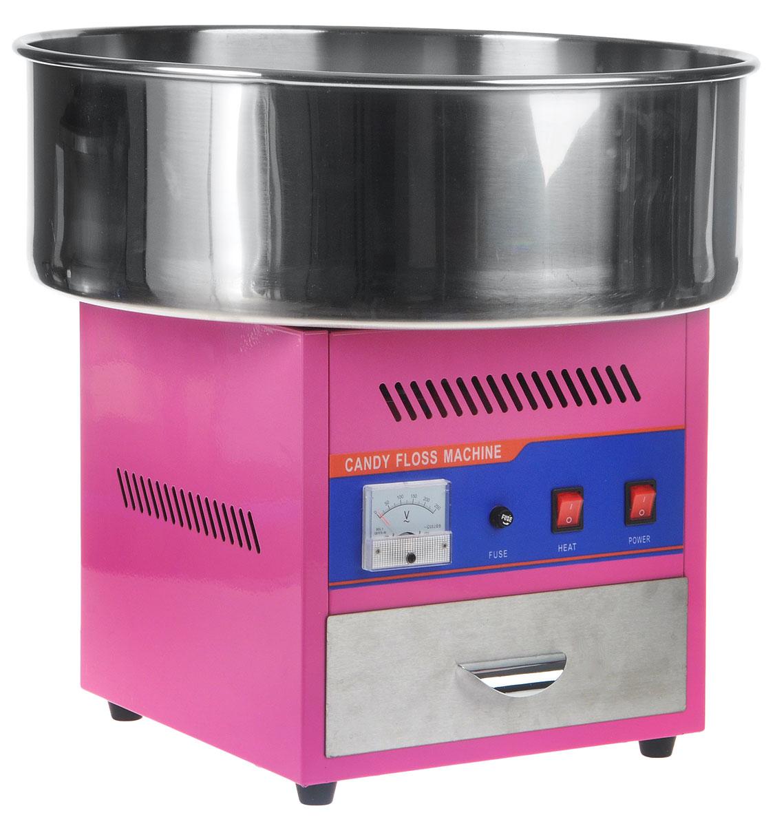 GASTRORAG HEC-01 аппарат для сахарной ватыHEC-01Аппарат для сахарной ваты GASTRORAG HEC-01 электрический, производительность до 3 кг/ч, ловитель из нерж.стали диаметром 520 мм, рабочая головка с ТЭНом, терморегулятор, вольтметр, ящик для сахара и ароматизаторов, мерная ложка в комплекте