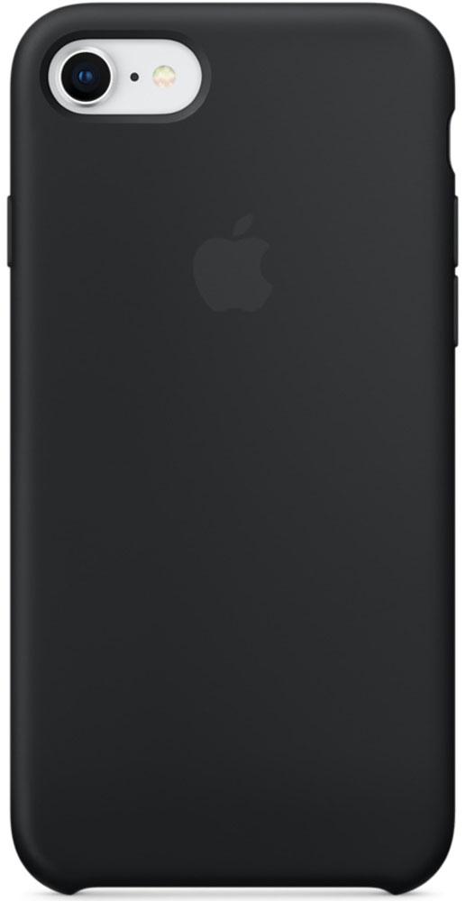 Apple Silicone Case чехол для iPhone 7/8, BlackMQGK2ZM/AСиликоновый чехол от Apple - отличное дополнение к вашему iPhone. Он плотно прилегает к кнопкам громкости и режима сна и точно повторяет контуры телефона, сохраняя его тонкий профиль. Мягкая подкладка из микрофибры защищает корпус iPhone. А внешняя силиконовая поверхность приятна на ощупь.