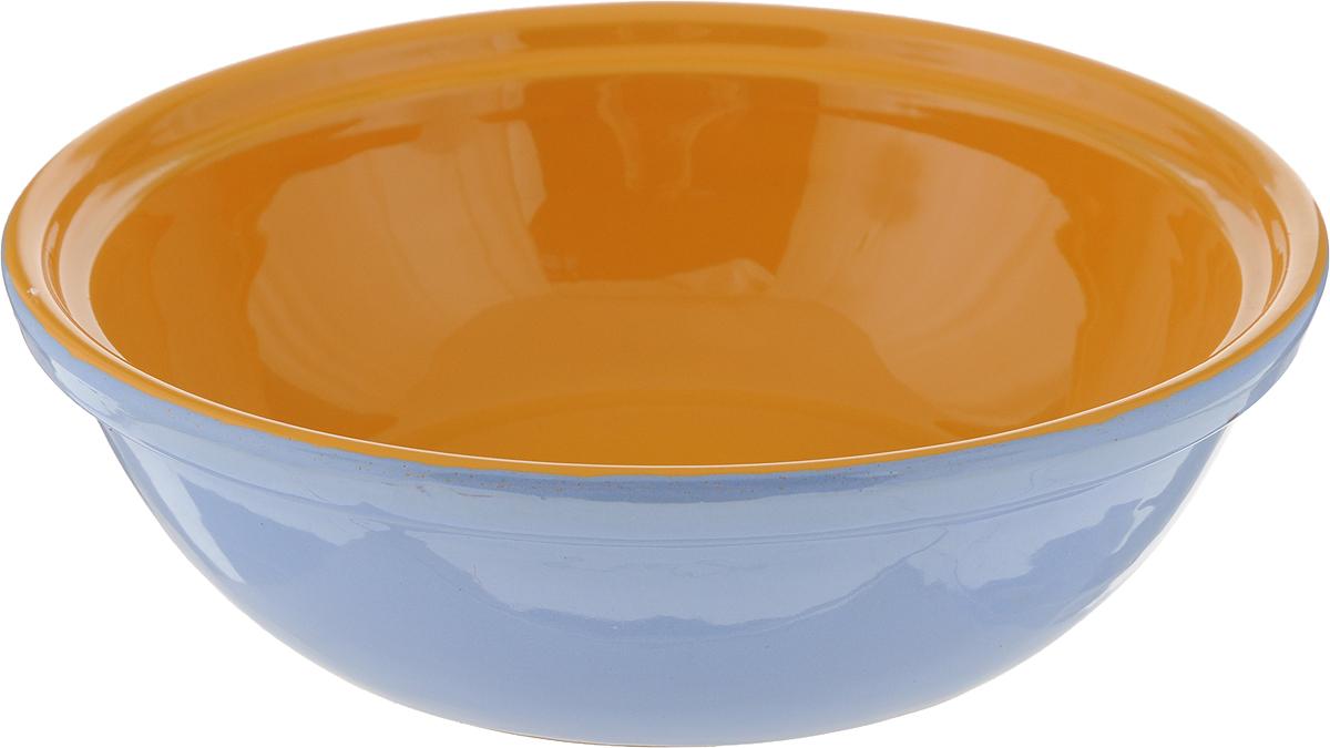Салатник Борисовская керамика Модерн, цвет: голубой, оранжевый, 500 млРАД14456945_голубой, оранжевыйСалатник Борисовская керамика Модерн выполнен из высококачественной керамики. Он придется по вкусу каждому и порадует вас и ваших близких. Салатник Борисовская керамика Модерн идеально подойдет для сервировкистола и станет отличным подарком к любому празднику.Можно использовать в духовке и микроволновой печи. Диаметр (по верхнему краю): 17,5 см.Высота: 5,5 см.Объем: 500 мл.