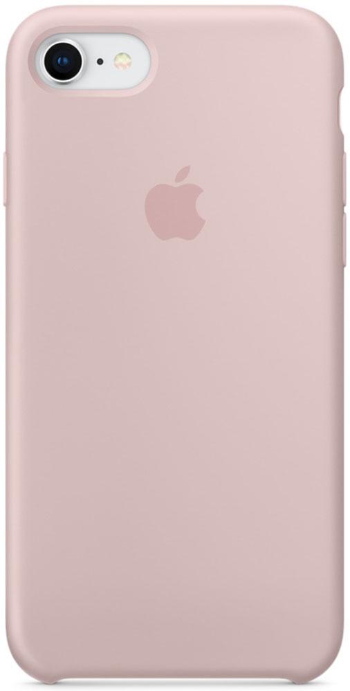 Apple Silicone Case чехол для iPhone 7/8, Pink SandMQGQ2ZM/AСиликоновый чехол от Apple - отличное дополнение к вашему iPhone. Он плотно прилегает к кнопкам громкости и режима сна и точно повторяет контуры телефона, сохраняя его тонкий профиль. Мягкая подкладка из микрофибры защищает корпус iPhone. А внешняя силиконовая поверхность приятна на ощупь.