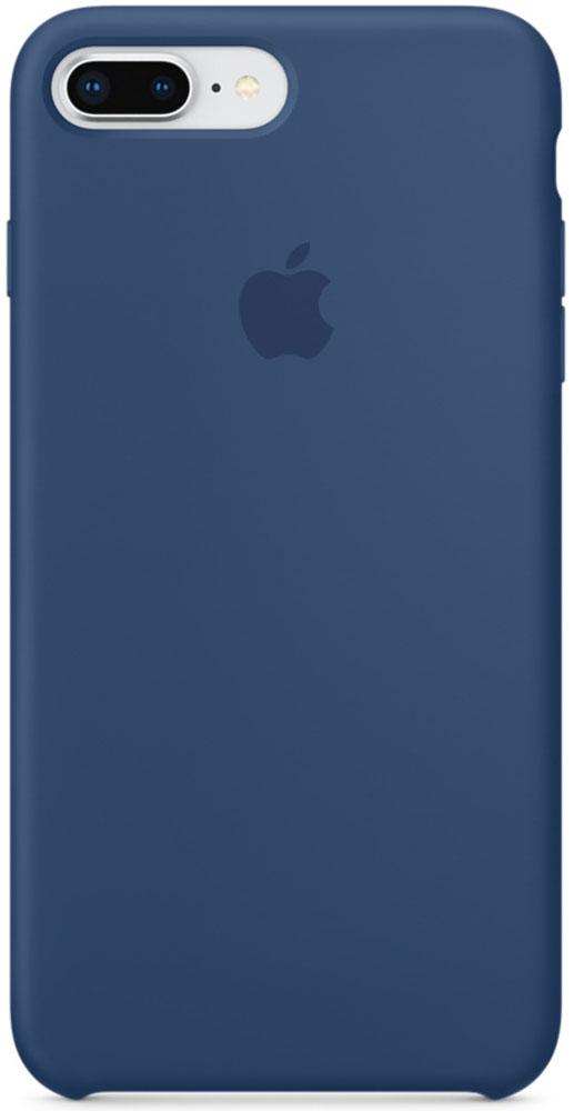 Apple Silicone Case чехол для iPhone 7 Plus/8 Plus, Blue CobaltMQH02ZM/AСиликоновый чехол от Apple - отличное дополнение к вашему iPhone. Он плотно прилегает к кнопкам громкости и режима сна и точно повторяет контуры телефона, сохраняя его тонкий профиль. Мягкая подкладка из микрофибры защищает корпус iPhone. А внешняя силиконовая поверхность приятна на ощупь.