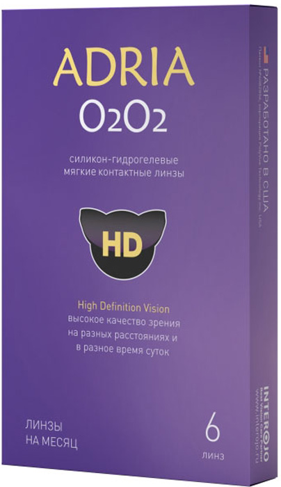 Adria Контактные линзы О2О2 / 6 шт / -5.25 / 8.6 / 14.2