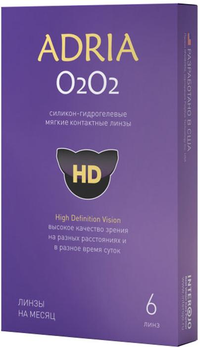 Adria Контактные линзы О2О2 / 6 шт / -9.00 / 8.6 / 14.2