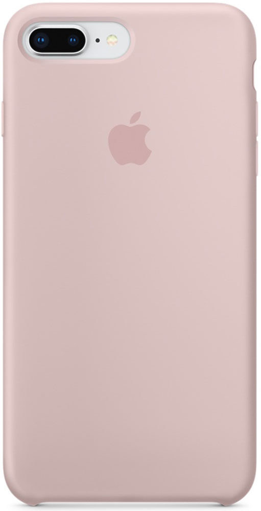 Apple Silicone Case чехол для iPhone 7 Plus/8 Plus, Pink SandMQH22ZM/AСиликоновый чехол от Apple - отличное дополнение к вашему iPhone. Он плотно прилегает к кнопкам громкости и режима сна и точно повторяет контуры телефона, сохраняя его тонкий профиль. Мягкая подкладка из микрофибры защищает корпус iPhone. А внешняя силиконовая поверхность приятна на ощупь.