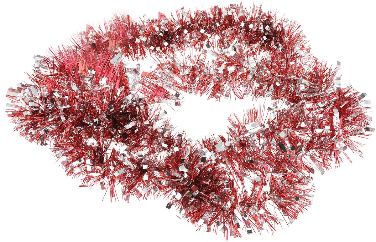 Мишура новогодняя Magic Time, цвет: красный, серебристый, 7,5 х 200 см. 7578575785Мишура новогодняя Magic Time, выполненная из ПЭТ (полиэтилентерефталата), поможет вам украсить свой дом к предстоящим праздникам. Мишура армирована, то есть имеет проволоку внутри и способна сохранять приданную ей форму.Новогодняя елка с таким украшением станет еще наряднее.Новогодней мишурой можно украсить все, что угодно - елку, квартиру, дачу, офис - как внутри, так и снаружи. Можно сложить новогодние поздравления, буквы и цифры, мишурой можно украсить и дополнить гирлянды, можно выделить дверные колонны, оплести дверные проемы.Длина мишуры: 200 см.Диаметр: 7,5 см.