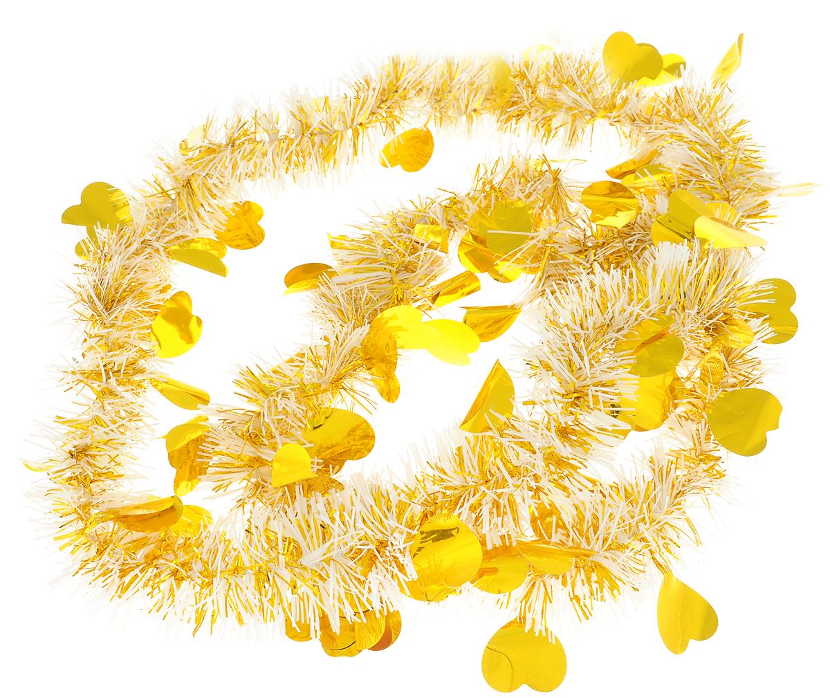 Мишура новогодняя Magic Time, цвет: золотистый, 6 х 200 см. 7573675736Мишура новогодняя Magic Time, выполненная из ПЭТ (полиэтилентерефталата), поможет вам украсить свой дом к предстоящим праздникам. Мишура армирована, то есть имеет проволоку внутри и способна сохранять приданную ей форму.Новогодняя елка с таким украшением станет еще наряднее.Новогодней мишурой можно украсить все, что угодно - елку, квартиру, дачу, офис - как внутри, так и снаружи. Можно сложить новогодние поздравления, буквы и цифры, мишурой можно украсить и дополнить гирлянды, можно выделить дверные колонны, оплести дверные проемы.Длина мишуры: 200 см.Диаметр: 6 см.