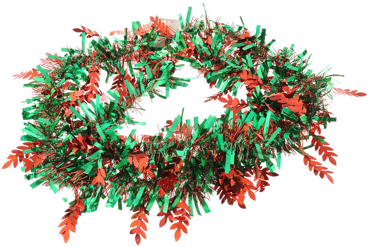 Мишура новогодняя Magic Time, цвет: зеленый, красный, 9 х 200 см. 7578675786Мишура новогодняя Magic Time, выполненная из ПЭТ (полиэтилентерефталата), поможет вам украсить свой дом к предстоящим праздникам. Мишура армирована, то есть имеет проволоку внутри и способна сохранять приданную ей форму.Новогодняя елка с таким украшением станет еще наряднее. Новогодней мишурой можно украсить все, что угодно - елку, квартиру, дачу, офис - как внутри, так и снаружи. Можно сложить новогодние поздравления, буквы и цифры, мишурой можно украсить и дополнить гирлянды, можно выделить дверные колонны, оплести дверные проемы.Длина мишуры: 200 см.Диаметр: 9 см.