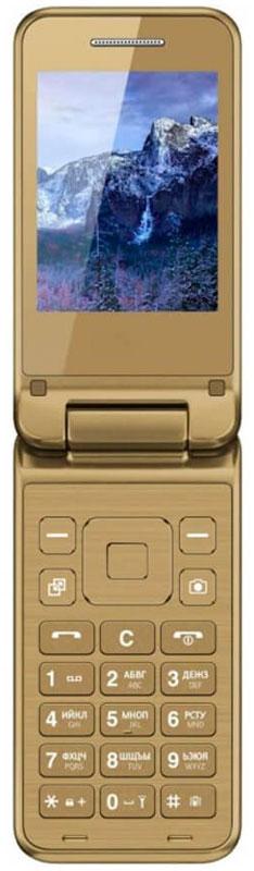 Vertex S106, GoldS106-GOLDМобильный телефон Vertex S106 - стильная и функциональная модель в раскладном корпусе с большим ярким дисплеем с различными цветами корпуса.Благородные цвета корпуса в стиле металлики монолитная клавиатура придают модели изысканности. Корпус выполнен из высококачественного пластика.Корпус раскладушкаобеспечивает комфортное использование телефона при повседневном общении. Вы можете настроить функцию ответа так, как удобно Вам: при открытии крышки или нажатием кнопки.Телефон оснащен большим и ярким экраном 2,8 для более удобного набора номеров, смс-сообщений, а также просмотра фото и видео-файлов.Модель также имеет камеру для простых повседневных снимков.Важные функции телефона вынесены на главную панель монолитной клавиатуры: камера, календарь, контакты.Одновременная работа двух SIM-карт позволяет просто и удобно совместить личный и рабочий номер в одном телефоне.Телефон сертифицирован EAC и имеет русифицированную клавиатуру, меню и Руководство пользователя.