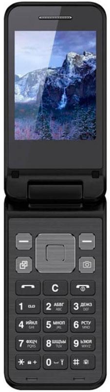 Vertex S106, BlackS106-BLACKМобильный телефон Vertex S106 - стильная и функциональная модель в раскладном корпусе с большим ярким дисплеем с различными цветами корпуса.Благородные цвета корпуса в стиле металлики монолитная клавиатура придают модели изысканности. Корпус выполнен из высококачественного пластика.Корпус раскладушкаобеспечивает комфортное использование телефона при повседневном общении. Вы можете настроить функцию ответа так, как удобно Вам: при открытии крышки или нажатием кнопки.Телефон оснащен большим и ярким экраном 2,8 для более удобного набора номеров, смс-сообщений, а также просмотра фото и видео-файлов.Модель также имеет камеру для простых повседневных снимков.Важные функции телефона вынесены на главную панель монолитной клавиатуры: камера, календарь, контакты.Одновременная работа двух SIM-карт позволяет просто и удобно совместить личный и рабочий номер в одном телефоне.Телефон сертифицирован EAC и имеет русифицированную клавиатуру, меню и Руководство пользователя.