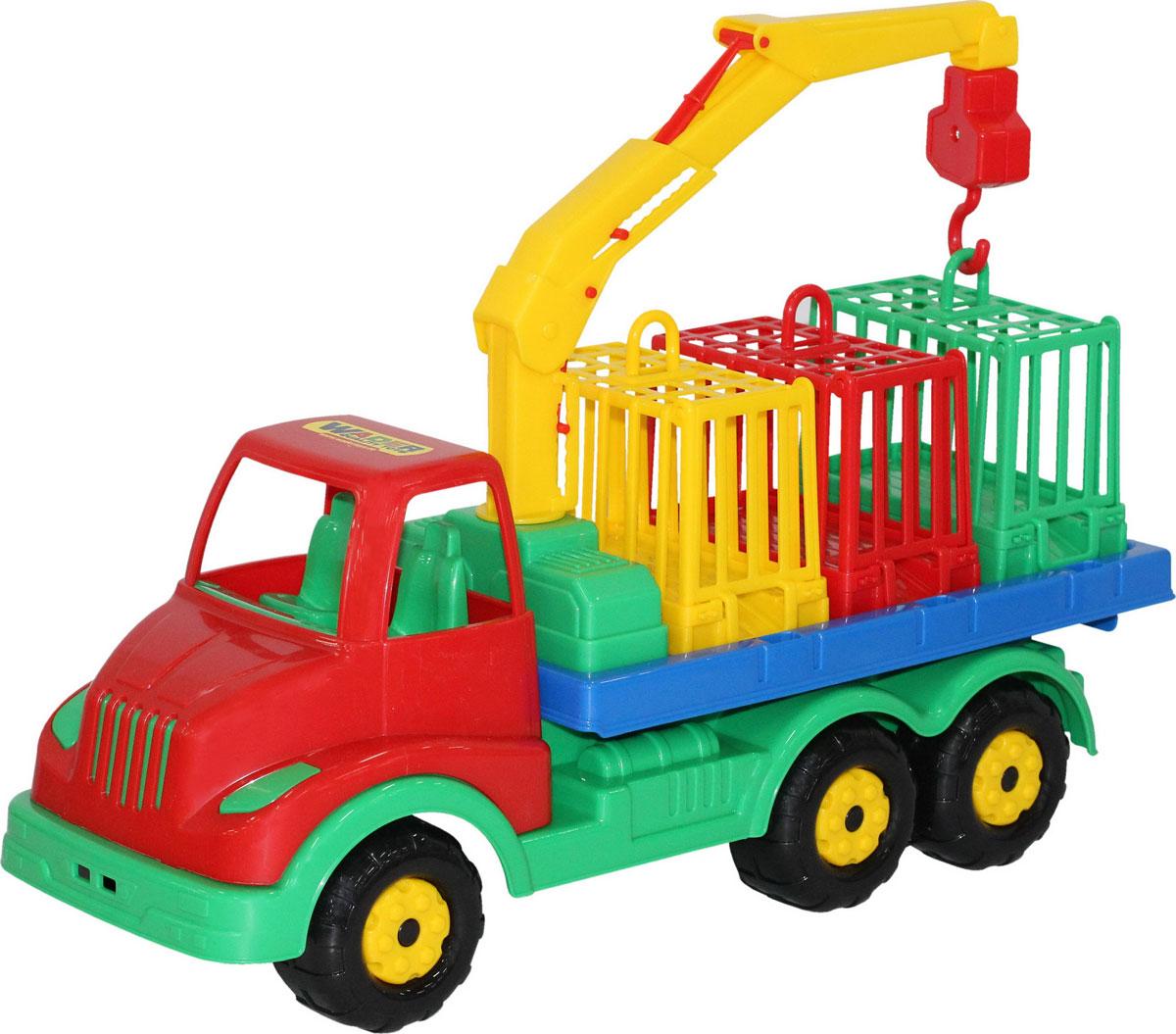 Полесье Автомобиль для перевозки зверей Муромец игрушки для ванны полесье паром балтик автомобиль мини 4 шт