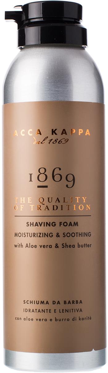 Пена для бритья Acca Kappa 1869, 200 мл853408Пена для бритья 1869 на основе натуральных экстрактов делает кожу эластичной и мягкой, чтобы бритье было гладким.Характеристики:Объем: 200 мл. Производитель: Италия. Артикул: 853408.Товар сертифицирован.