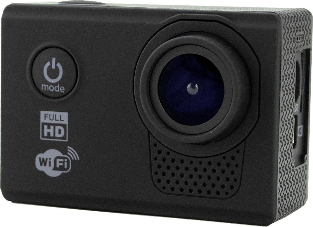 Prolike FHD, Black экшн-камераPLAC003BLЭкшн-камера Prolike FHD - это маленькая эргономичная видеокамера, созданная специально для спортсменов-экстремалов, мечтающих снять на видео самые яркие моменты своих приключений.Обычная видеокамера не выдерживает сложные условия съемки, скорость, перепады температур, тогда как экшн-камера Prolike FHD благодаря конструктивным особенностям и техническим характеристикам легко справляется с этими задачами.Важным преимуществом камеры является маленький вес и миниатюрные габариты, способствующие фиксации устройства на теле спортсмена, не стесняя свободы движений. Для установки камеры предусмотрены дополнительные аксессуары и крепления, которыми комплектуется камера.Прочность и надежность при высоких нагрузках обеспечивает влагозащитный и противоударный корпус камеры, а дополнительный защитный аквабокс предназначен для подводных съемок.