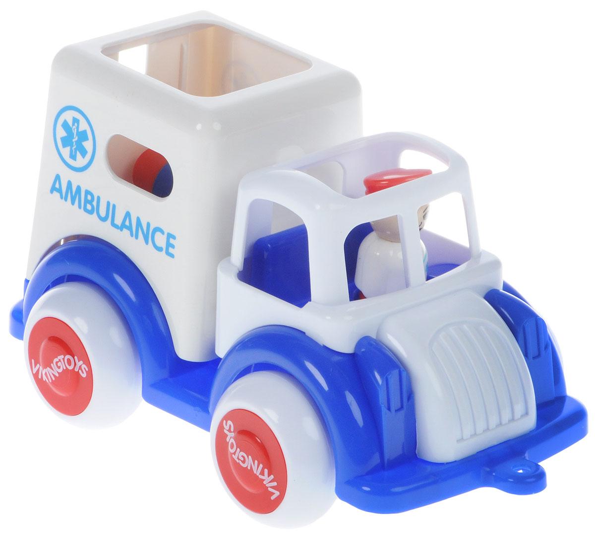 Viking Toys Машинка скорой помощи Джамбо цвет белый синий viking toys пожарная машина джамбо 28 см