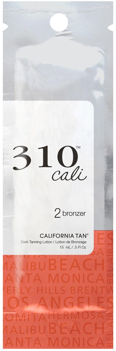 California Tan Крем для загара в солярии 310 Cali Bronzer Step 2, 15 млCT1199Крем для загара с натуральными бронзаторами. Шаг 2. Описание: Отлично подойдет для светлой и загорелой кожи. В результате применения придает загару красивый оттенок. Экстракт ванили и экстракт кокоса защищают кожу от фотостарения. Уникальная гелевая основа отлично увлажняет кожу.