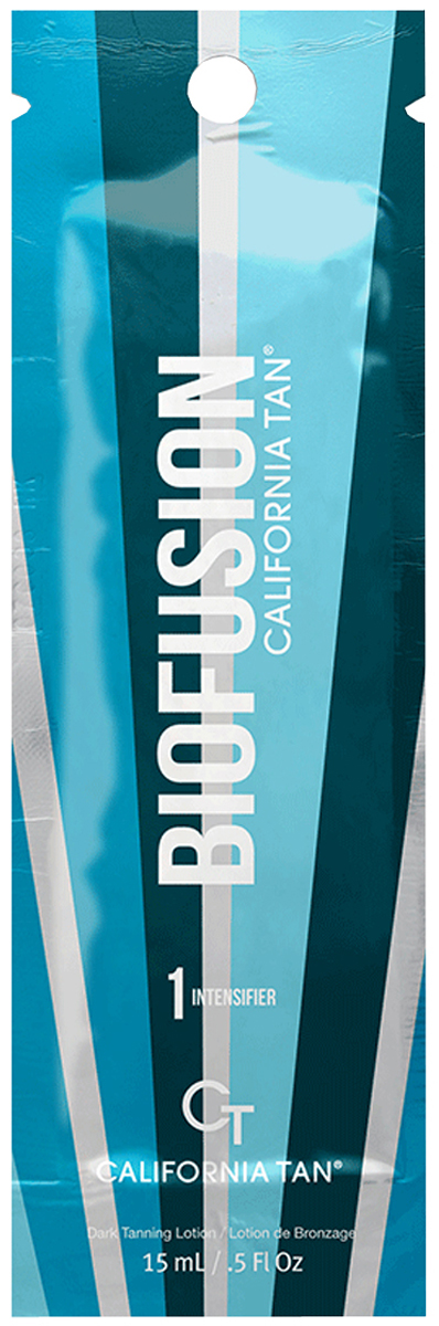 California Tan Крем для загара в солярии Biofusion Intensifier Step 1, 15 млCT1183Крем-усилитель для загара без бронзаторов. Отлично подойдет для светлой кожи. Шаг 1.Описание:В результате применения придает загару красивый оттенок. Экстракт ванили и экстракт кокоса защищают кожу от фотостарения. Уникальная гелевая основа отлично увлажняет кожу.