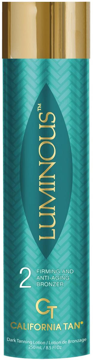 California Tan Крем для загара в солярии Luminouse Natural Bronzer Step 1, 250 млCT0172Лосьон для загара в солярии с натуральным бронзатором для светлой кожи Шаг 1.Активные компоненты:Комплекс OmniBronze™ придает роскошного оттенок Вашему загаруToning Agents обогащенные кофеином способствуют эластичности кожиGold of Pleasure Oil и Hemp Seed Oilпридаст коже более насыщенный цветБелая Береста обладает омолаживающими свойствами, которые помогут улучшить цвет кожи и предотвратить появление морщинОписание:Данный продукт отлично питает и увлажняет Вашу кожу. Благодаря бронзаторам загар проявляется очень мягко. Активные компоненты ухаживают за кожей, делают ее более эластичной, красивой и молодой.