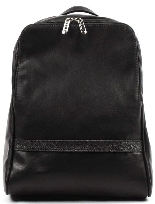 Сумка-рюкзак женская Медведково, цвет: черный. 17с6010-к1417с6010-к14Сумка-рюкзак женская Медведково с одним отделением закрывается на застежку-молнию. На задней стенке карман на молнии. Два регулируемых наплечных ремня и короткая ручка. Внутри карман на молнии.