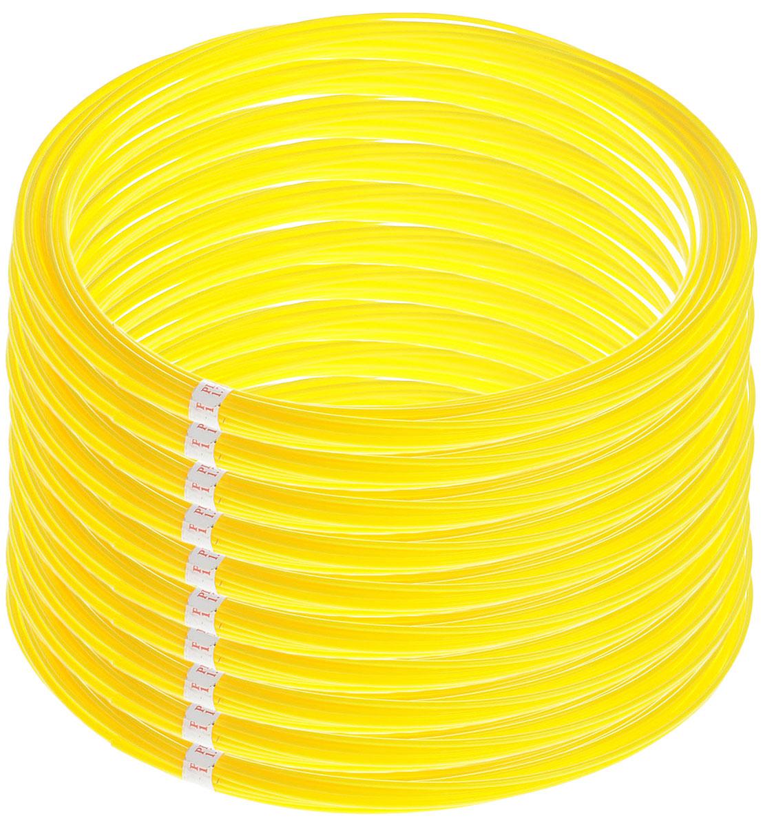 Spider Box пластик PLA, Yellow 10 м 10 шт2990000002174Набор пластика PLA (из кукурузного крахмала). Каждый моток 10 м