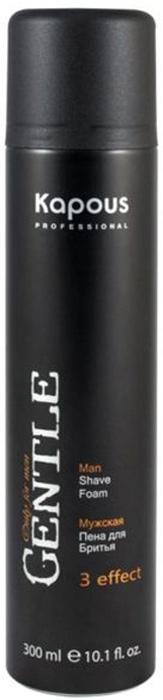 Kapous Пена для бритья Gentlemen 3 Effect 300 млKap923Пена для бритья 3 effect серии Gentlemen - эффективное средство, созданное компанией Kapous специально для обеспечения комфортного бритья. Благодаря особенному комплексу активных компонентов, содержащему Пантенол, Алоэ Вера и Витамин Е, средство идеально подходит для всех типов кожи, включая чувствительную; оно предотвращает ее раздражение, делая ее мягкой и гладкой. Пена также помогает коже с процессом ее микрозаживления и замедляет процесс ее старения.