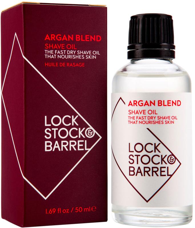 Lock Stock & Barrel Универсальное аргановое масло для бритья и ухода за бородой Argan Blend Shave Oil, 50 мл lock stock & barrel глина для моделирования с матовым эффектом 85 карат 85 karats shaping clay 100 гр