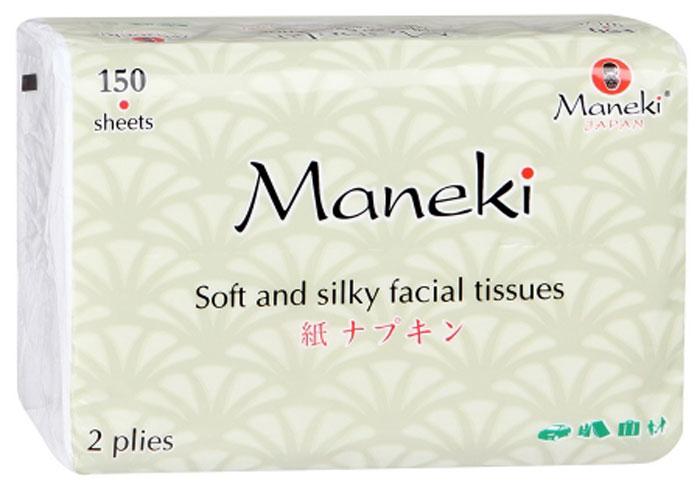 Салфетки бумажные Maneki, 2 слоя, 150 шт салфетки бумажные круглые 3 слойные 12 шт ассорти