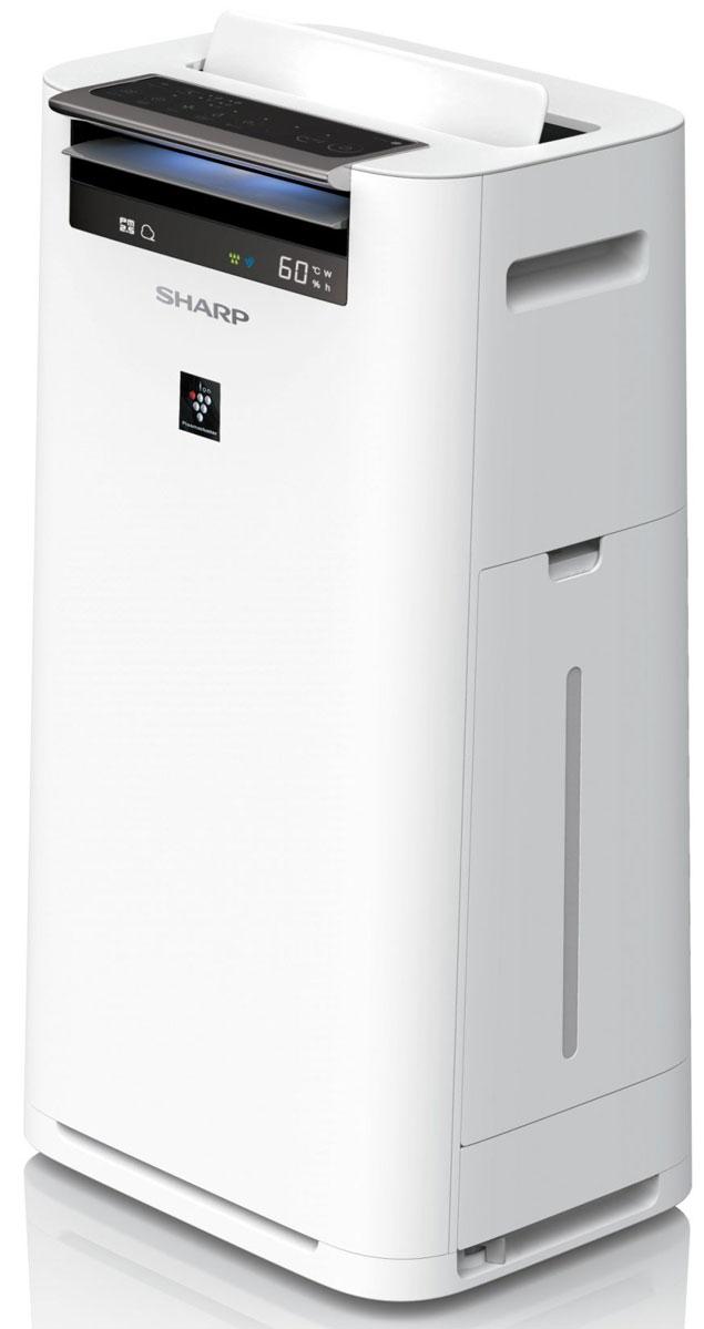 Sharp KCG51RW очиститель воздухаКТ-00020Sharp KCG51RW - это очиститель воздуха с функцией увлажнения, который поможет избавиться от бытовой пыли и содержащихся в ней вредных примесей, устранит неприятные запахи и статическое электричество. Прибор эффективен в небольших помещениях бытового, коммерческого или офисного назначения площадью до 38 м2. Устройство имеет несколько режимов работы, включая автоматический, так называемый Умный режим. Особенностью Умного режима является умение подстраивать свою работу под существующие условия в помещении. С помощью показаний, полученных от встроенных сенсоров пыли, запаха, температуры, влажности и РМ2.5 климатический комплекс принимает решение о запуске процесса очистки или необходимости активировать работу системы увлажнения, а с помощью датчиков движения и освещенности определяет, есть ли кто-то в помещении, и требуется ли включить энергосберегающий режим.Очистка воздухаКлиматический комплекс Sharp KCG51RW оснащен тремя фильтрами, которые эффективно устраняют пыль, газ и запахи. Фильтры имеют увеличенный срок эксплуатации и надежно удерживают загрязнения на протяжении всего периода работы. - Новый фильтр предварительной очистки задерживает крупные частицы размером более 240 микрон - это шерсть домашних питомцев, волосы, крупная пыль. Фильтр можно мыть под струей воды. - Двойной дезодорирующий фильтр поглощает табачный дым, неприятные запахи в доме, проникающие с улицы выхлопные газы, в которых содержатся оксиды азота, оксиды серы и другие летучие органические вещества. - Электростатический фильтр HEPA задерживает до 99.97% микроскопических частиц (до 0.3 микрона) - это аллергены и мельчайшие частицы пыли.Технология Plasmacluster. Направленные ионыКроме сменных фильтров в процессе очистки воздуха участвует уникальная технология ионизации воздуха Plasmacluster. Технология Plasmacluster - это генерация отрицательно и положительно заряженных ионов, которые активно деактивирует переносимые по воздуху вирусы, бактерии, грибки плесен