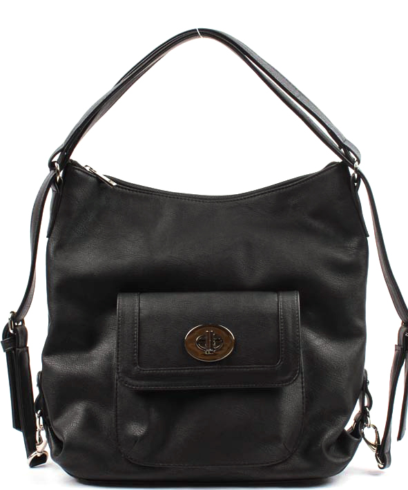 Сумка-рюкзак женская Медведково, цвет: черный. 17с4281-к1417с4281-к14Сумка-рюкзак Медведково с одним отделением на молнии. Внутри карманы. На передней стенке объемный карман с клапаном на замке. На задней стенке карман на молнии. Ручки регулируются, можно носить как сумку и рюкзак.