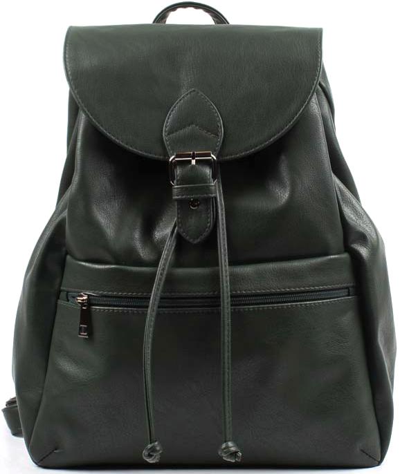 Рюкзак женский Медведково, цвет: темно-зеленый. 17с4287-к14