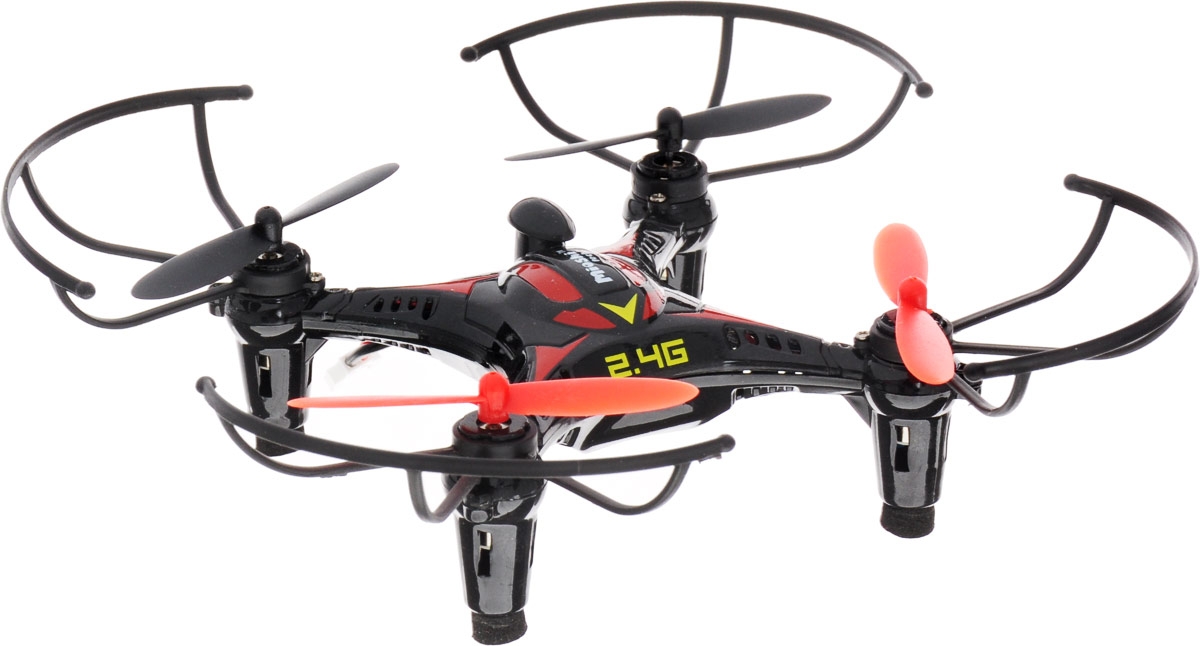 Mioshi Квадрокоптер на радиоуправлении Tech 3D Мини-дрон-14 цвет черный красный