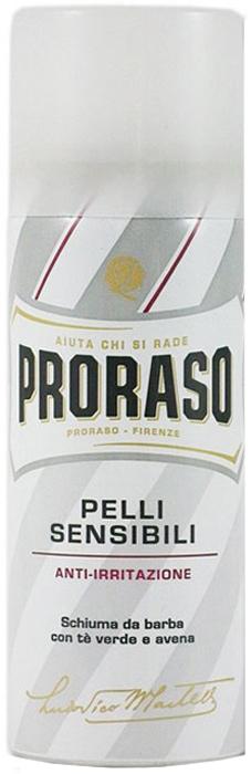 Proraso Пена для бритья для чувствительной кожи 50 мл400190Богатая и плотная пена наносится легко и быстро. Экстаракт овсянки: увлажняет и успокаивает, не нарушает ph кожи. Зеленый чай: натуральный антиоксидант, богатый полифенолами и минералами.