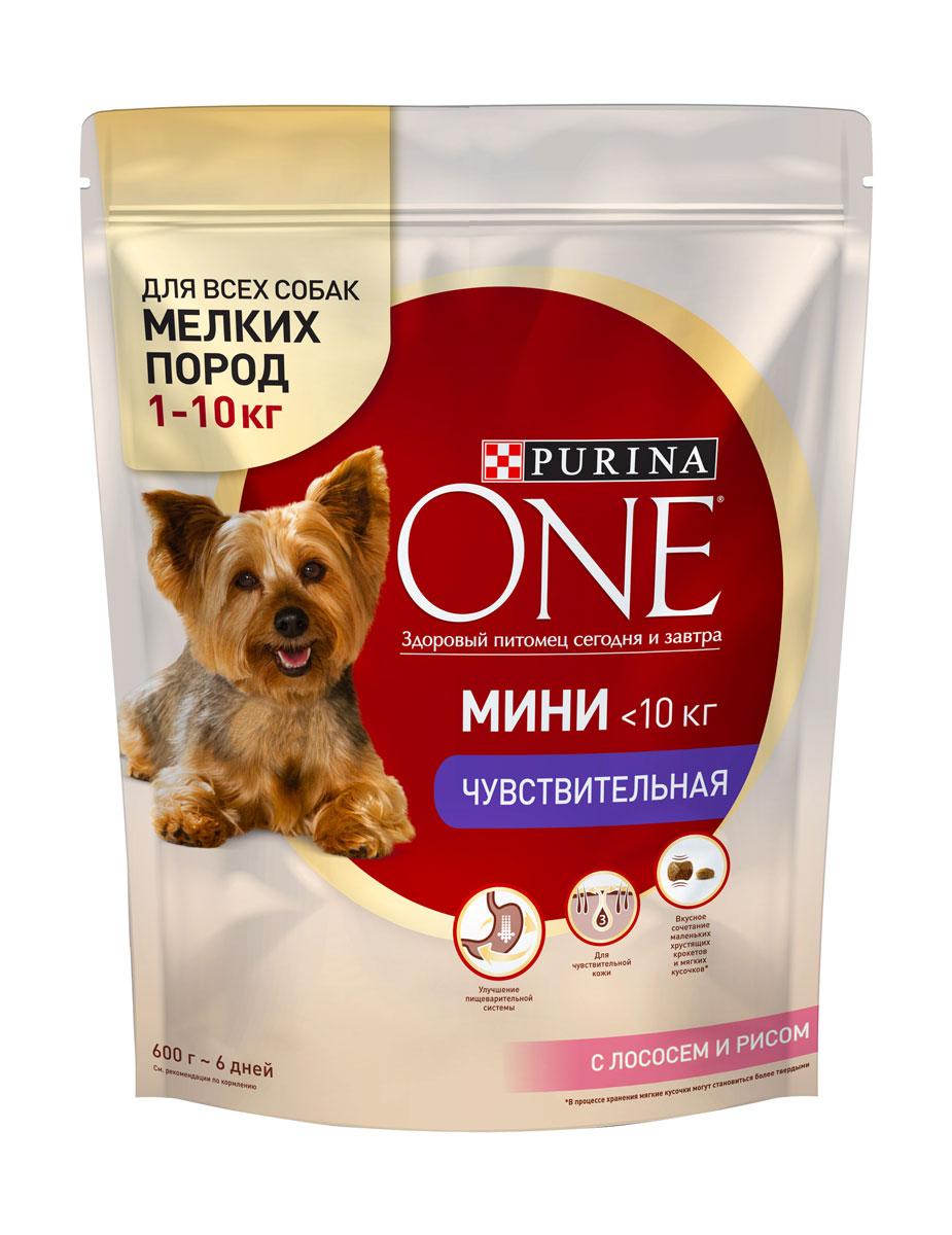 Корм сухой Purina One Мини Моя Собака…Чувствительная, с лососем и рисом, 600 г57922Корм сухой Purina One Мини Моя Собака…Чувствительная - это вкусное сочетание хрустящих крокетов и мягких кусочков с лососем отличается высоким содержанием жирных кислот Омега 3 для поддержания здоровья кожи и натуральными пребиотиками для улучшения пищеварительной системы. Товар сертифицирован.