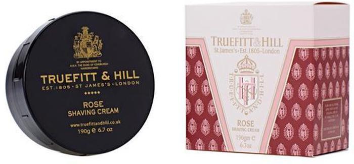 Truefitt&Hill Крем для бритья Rose Shaving Cream ( в банке) 190 гр.00039TRUEFITT&HILL являются держателями королевского разрешения на поставку продукции Королевскому двору. Высококачественные кремы для бритья на глицериновой основе - самый комфортный способ достичь совершенства. TRUEFITT&HILL Крем для бритья Rose Shaving Cream ( в банке). Белоснежно-жемчужная эмульсия шелковистой текстуры, легко взбивающаяся в пену. С экстрактом розы, освежает и тонизирует кожу, подходит для любого типа кожи. Преимущества: Образует густую пену, приподнимает, размягчает волоски и обеспечивает хорошее скольжение лезвия для идеального гладкого бритья. Глицерин мгновенно увлажняет и смягчает кожу. Подходит для чувствительной кожи
