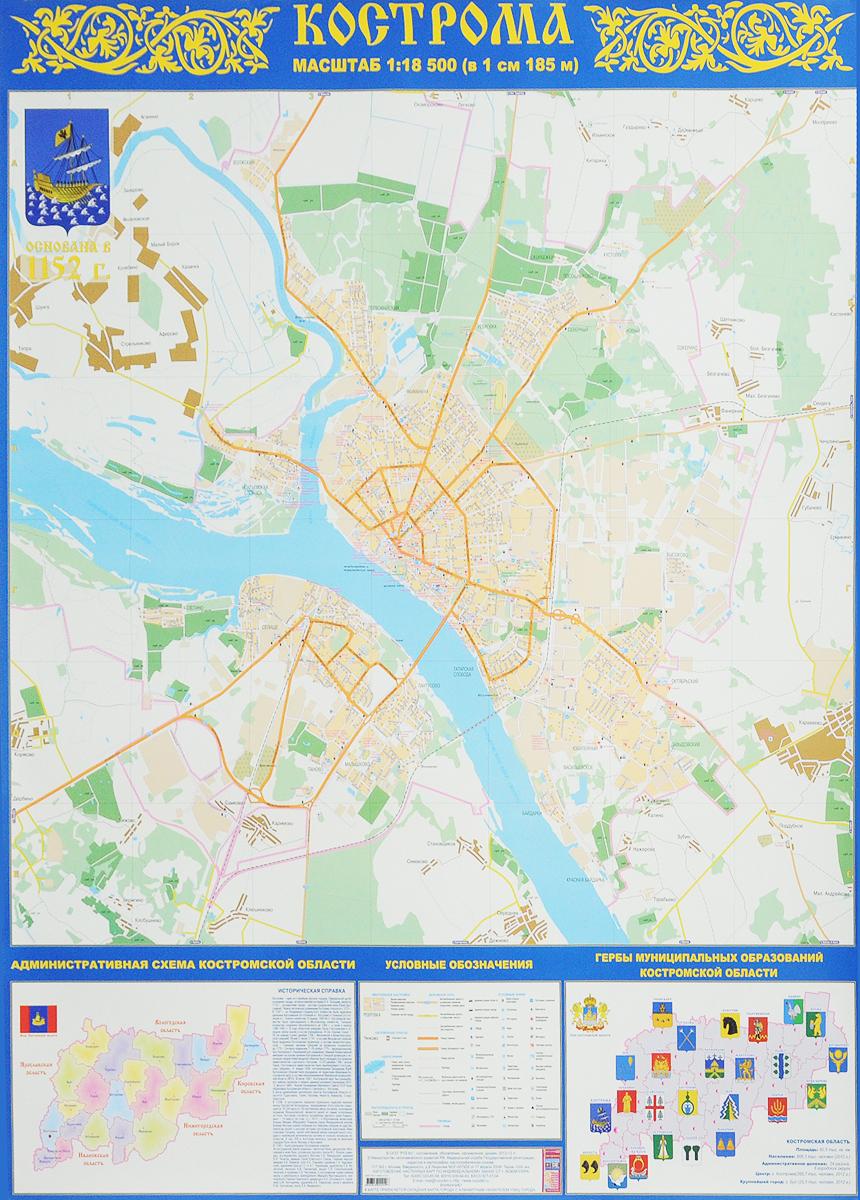 Кострома. Настенная карта