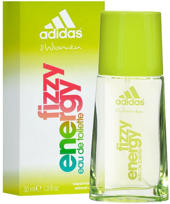 Adidas Туалетная вода Fizzy Energy, женская, 30 мл3400093610Аромат Adidas Fizzy Energy создан для динамичных, активных и жизнерадостных девушек. Аромат словно светится солнечными лучиками, заряжая вас и окружающих светом, радостью и энергией.Классификация аромата: фруктовый, древесный.Пирамида аромата: Верхние ноты: грейпфрут, красное яблоко, ананас.Ноты сердца: жасмин, папайя, камелия.Ноты шлейфа: древесные ноты, мускус.Ключевые слова Динамичный, свежий, оригинальный!Товар сертифицирован.Краткий гид по парфюмерии: виды, ноты, ароматы, советы по выбору. Статья OZON Гид