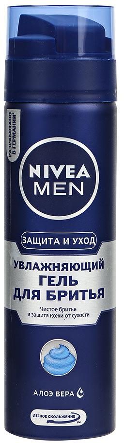 NIVEA Гель для бритья Увлажняющий Защита и уход, 200мл гель nivea nivea ni026lwviu43