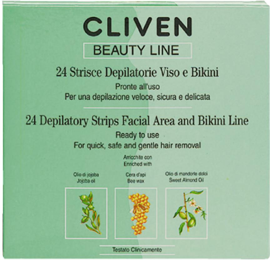 Cliven Депиляционные полоски лицо и бикини - Женские средства для депиляции и бритья