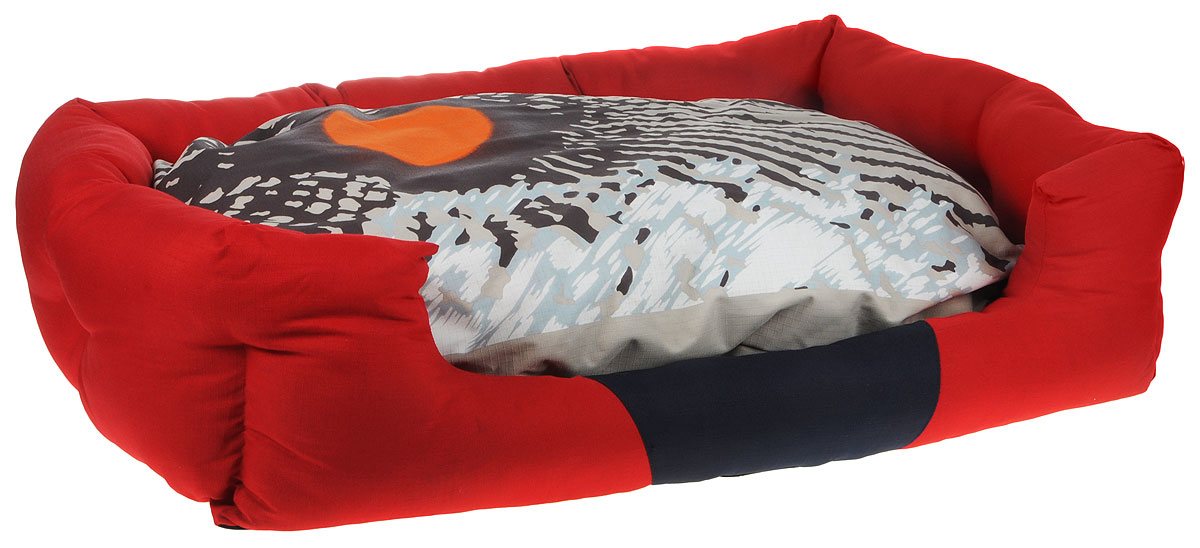 Лежак для животных Camon Oxford, цвет: красный, черный, серый, 87 x 55 см. CC004/RUPS04Лежак Camon Oxford непременно станет любимым местом отдыха вашего домашнего животного. Изделие выполнено из высококачественного полиэстера, а наполнитель - из поролона. Такой материал не теряет своей формы долгое время.Внутри имеется мягкая съемная подстилка с чехлом на молнии.На таком лежаке вашему любимцу будет мягко и тепло. Он подарит вашему питомцу ощущение уюта и уединенности.Размеры: 87 х 55 см.