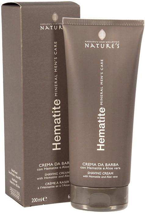 Крем для бритья Natures Hematite, 200 мл60260501Легкий крем для бритья Natures Hematite с пониженным пенообразованием обеспечивает гладкое скольжение лезвия для быстрого идеального бритья. Подходит для самой чувствительной кожи. Поддерживает мягкость кожи, предотвращая шелушение и раздражение.Содержит Гематит, стимулирующий выработку коллагена, гель алоэ вера и папаин, сдерживающий рост волос, и ментол, дающий ощущение свежести.Обладает антиоксидантным действием, препятствует преждевременному появлению морщин. Характеристики:Объем: 200 мл.Производитель: Италия.Артикул: 60260501. Товар сертифицирован.