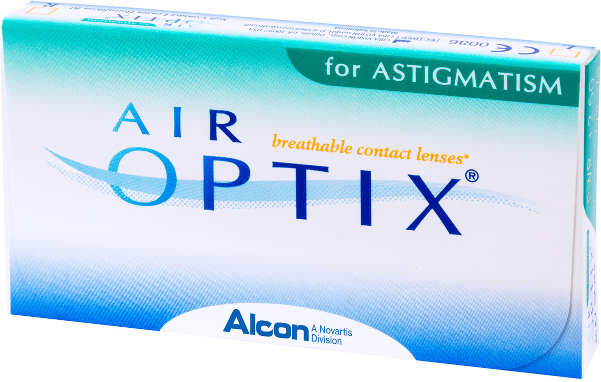 Аlcon контактные линзы Air Optix for Astigmatism 3pk /BC 8.7/DIA14.5/PWR +2.50/CYL -0.75/AXIS 170100017712with Hydraclear