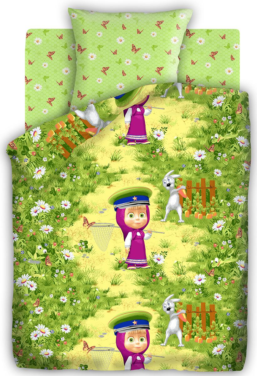 Маша и Медведь Комплект детского постельного белья На границе 1,5-спальный187444Постельное белье Маша и Медведь На границе выполнено из высококачественного хлопка.Комплект состоит из пододеяльника, простыни инаволочки. Предметы набора оформлены рисунком в виде героев мультсериала Маша и Медведь.Изделия из хлопка обладают превосходными качествами, так как они отлично пропускают воздух, хорошо впитывают влагу - соответственно контролируют температуру тела, приятны на ощупь и комфортны, а главное полезны для здоровья.