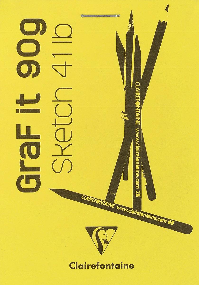 Блокнот Clairefontaine Graf It, для сухих техник, с перфорацией, цвет: желтый, формат A7, 80 лист hyundai it a7 планшет