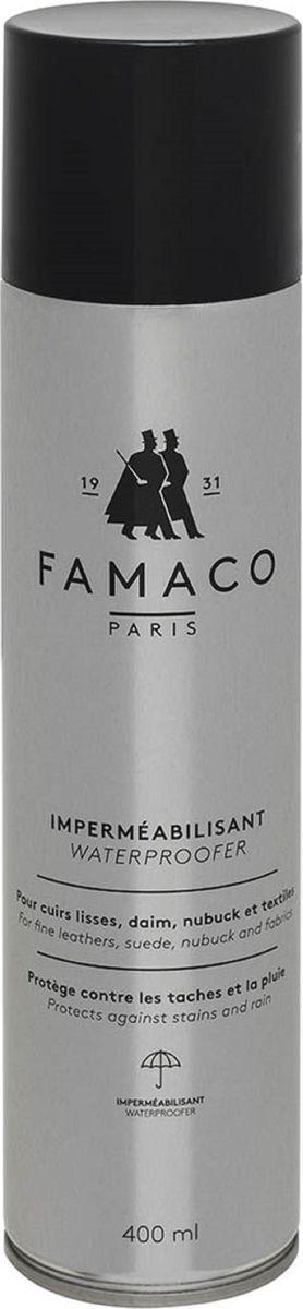 Водоотталкивающее средство Famaco, универсальное, 400 мл9301-018Универсальная водоотталкивающая пропитка Famaco обеспечивает эффективную защиту от влаги и загрязнений изделия из всех видов кожи, замши, нубука и текстиля. Продлевает срок службы и способствует сохранению первоначального внешнего вида изделиям. Образует защитное покрытие, сохраняя способность обрабатываемой поверхности дышать, не изменяет натуральный цвет. Это средство предотвратит появление разводов от воды и снега, а также появление пятен и других загрязнений.Подходит для восстановления гидрофобных свойств мембраны.