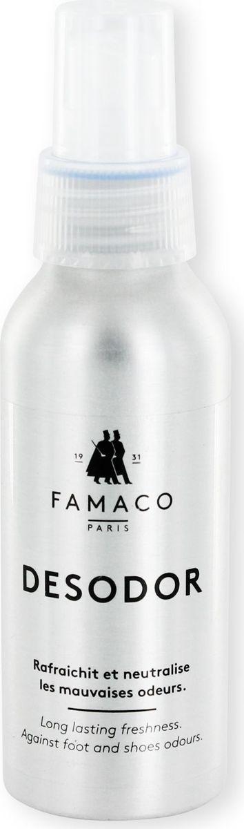 Дезодарант для обуви Famaco, 100 мл2331Дезодорант Famaco быстро и эффективно устранит неприятный запах в обуви на срок до 48 часов, первым делом воздействуя на его причину - бактерии. Дезодорант содержит в своём составе антибактериальные компоненты, подавляющие рост бактерий и грибков. Дезодорант бесцветный и не оставляет следов и пятен внутри обуви. Эвкалипт в составе обладает бактерицидными свойствами, освежает и немного охлаждает кожу ног.
