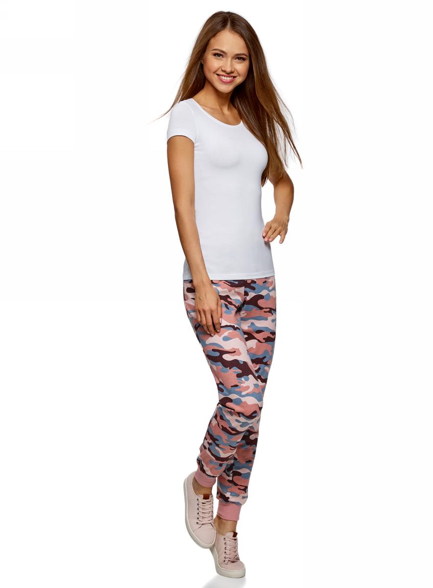 Брюки женские oodji Ultra, цвет: розовый. 16701042-1/46919/2354O. Размер XL (50)16701042-1/46919/2354O