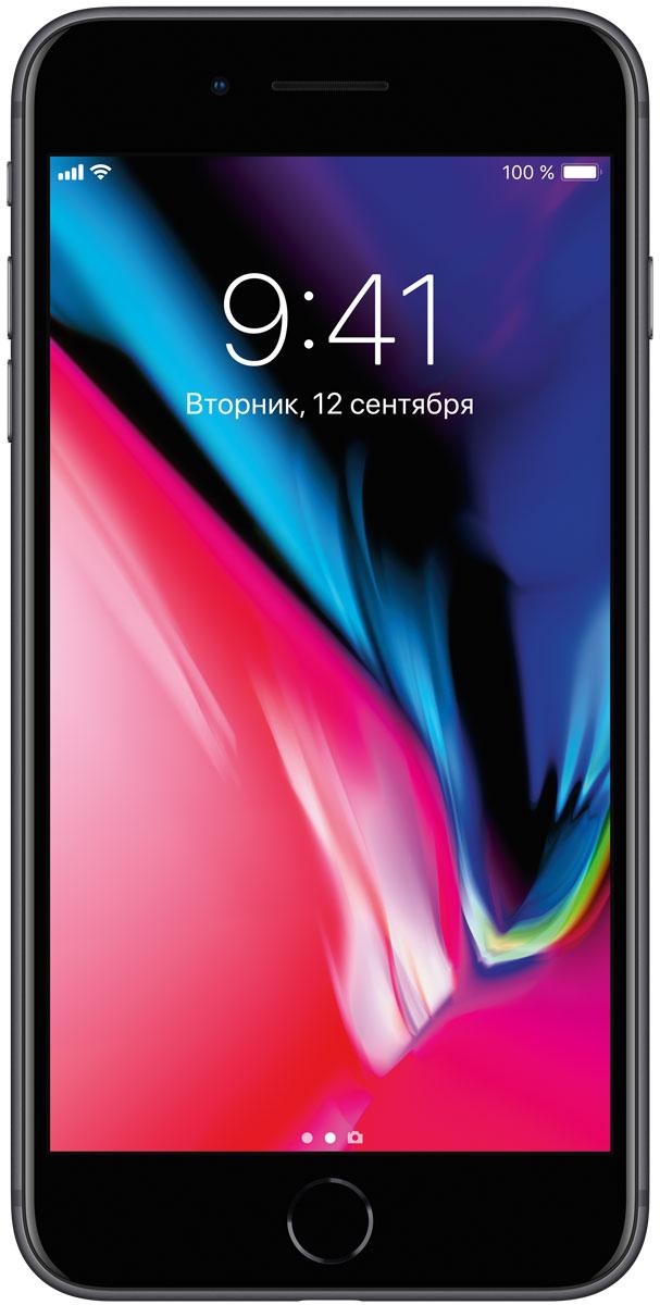 Apple iPhone 8 Plus 256GB, Space GrayMQ8P2RU/AiPhone 8 Plus - это новое поколение iPhone. Впервые передняя и задняя панели iPhone выполнены из стекла. Самая популярная камера усовершенствована. Установлен самый умный и мощный процессор, когда-либо созданный для iPhone. Без проводов процесс зарядки становится элементарным. А дополненная реальность открывает невиданные до сих пор возможности.Такого прочного стекла с обеих сторон у iPhone ещё не было. Рамка в тон корпусу выполнена из алюминия, применяемого в аэрокосмической отрасли. Благодаря продуманному инженерному решению корпус iPhone 8 Plus отлично защищён от воды, брызг и пыли. Олеофобное покрытие позволяет легко избавиться от пятен и отпечатков пальцев.Благодаря продуманному инженерному решению корпус iPhone 8 Plus отлично защищён от воды, брызг и пыли.Apple всегда хотела сделать iPhone полностью беспроводным: никаких кабелей или проводов от наушников. iPhone 8 Plus с задней панелью из стекла и поддержкой беспроводной зарядки готов к беспроводному будущему.Обновлённые стереодинамики iPhone 8 Plus стали до 25% громче и отлично воспроизводят глубокие басы. Увеличьте громкость и оцените потрясающее звучание музыки, видео и звонков по громкой связи.Технология Touch ID позволяет защитить информацию идеальным паролем - вашим отпечатком пальца. Вы можете мгновенно разблокировать телефон и войти в любимые приложения. Touch ID поддерживает функцию Apple Pay, которая позволяет оплачивать покупки в магазинах, приложениях и на веб-сайтах.Изображение на дисплее Retina HD стало ещё точнее и красивее. Новый дисплей поддерживает расширенный цветовой охват, технологии True Tone и 3D Touch. Технология True Tone автоматически настраивает баланс белого с учётом освещения. Чтобы радовать глаз в любом случае.Благодаря новой матрице передовые технологии фотосъёмки становятся доступнее - теперь каждый может снимать прекрасные фото и видео без дополнительных настроек. Кроме того, камера iPhone 8 Plus позволяет полностью погрузиться в за