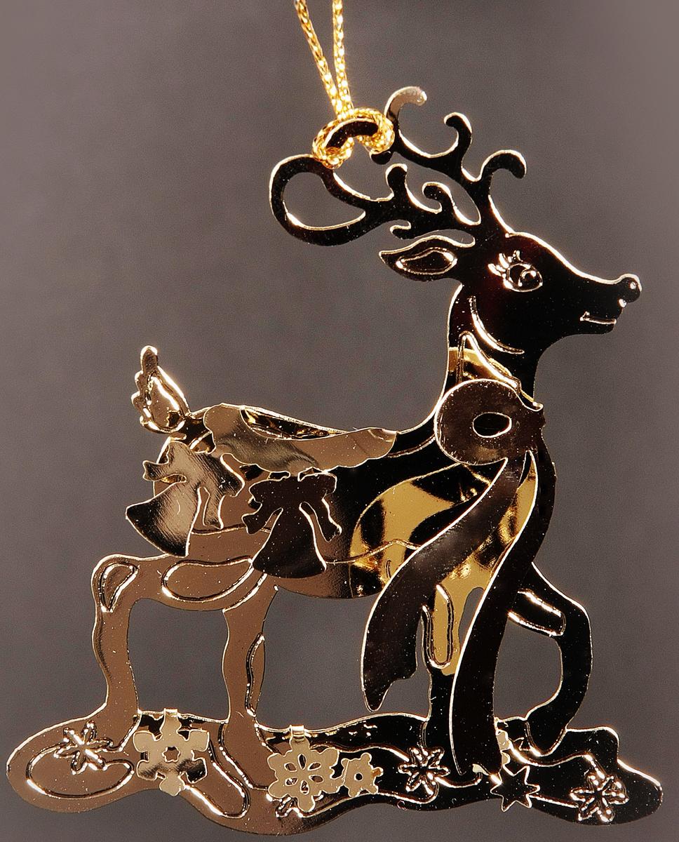 Украшение новогоднее подвесное Magic Time. 3193731937Новогоднее декоративное подвесное украшение из черного окрашенного металла.
