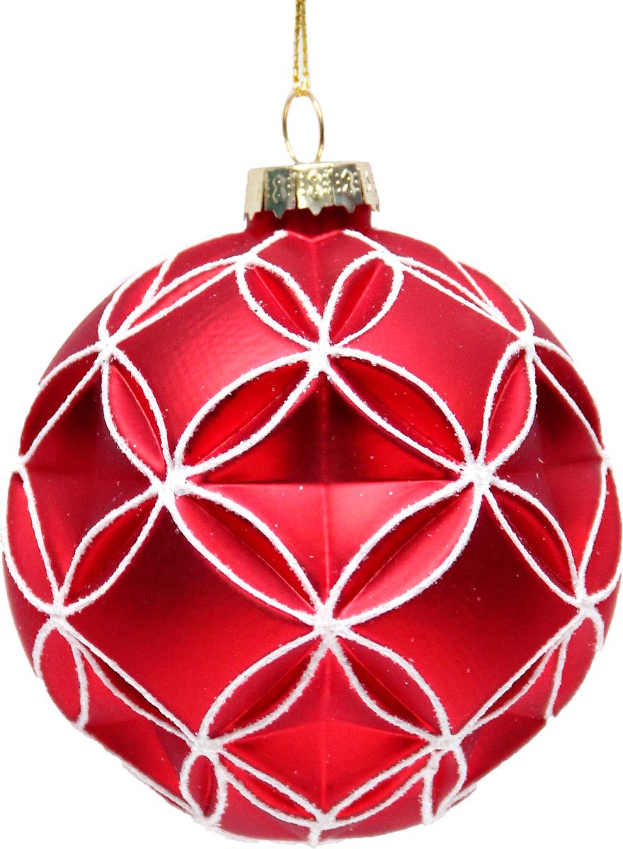 Новогоднее подвесное украшение Magic Time Шар. Фантастический красный, диаметр 8 см42340Новогоднее украшение Magic Time, выполненное из стекла, отлично подойдет для декорации вашего дома и новогодней ели. С помощью специальной петельки украшение можно повесить в любом понравившемся вам месте. Но, конечно, удачнее всего оно будет смотреться на праздничной елке.Елочная игрушка - символ Нового года. Она несет в себе волшебство и красоту праздника. Такое украшение создаст в вашем доме атмосферу праздника, веселья и радости.