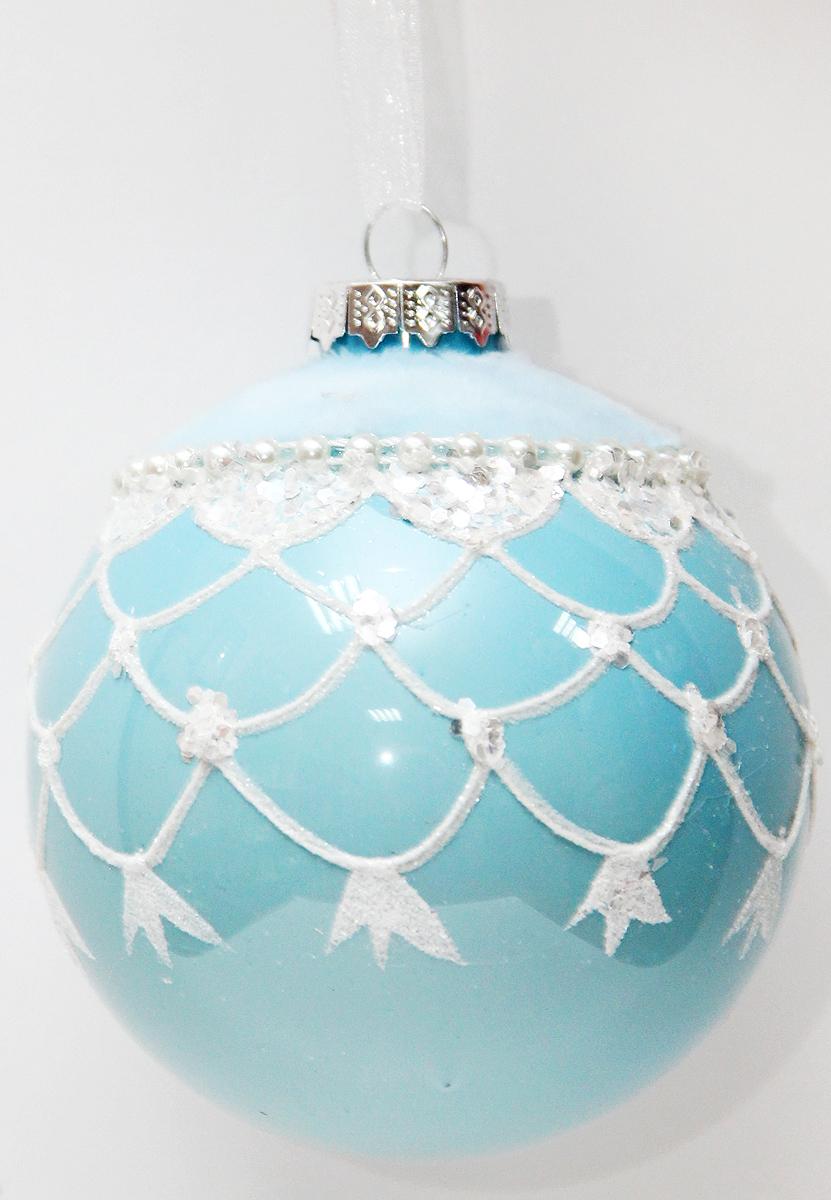 Новогоднее подвесное украшение Magic Time Шар. Зимнее небо, диаметр 8 см42349Новогоднее украшение Magic Time, выполненное из стекла, отлично подойдет для декорации вашего дома и новогодней ели. С помощью специальной петельки украшение можно повесить в любом понравившемся вам месте. Но, конечно, удачнее всего оно будет смотреться на праздничной елке.Елочная игрушка - символ Нового года. Она несет в себе волшебство и красоту праздника. Такое украшение создаст в вашем доме атмосферу праздника, веселья и радости.